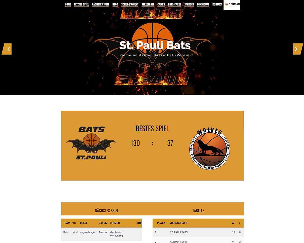 Referenz-Bats-Basketball